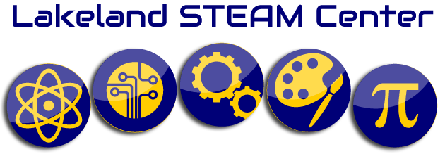 The Steam Logo that represents the five disciplines: science, technology, engineering, arts and math.